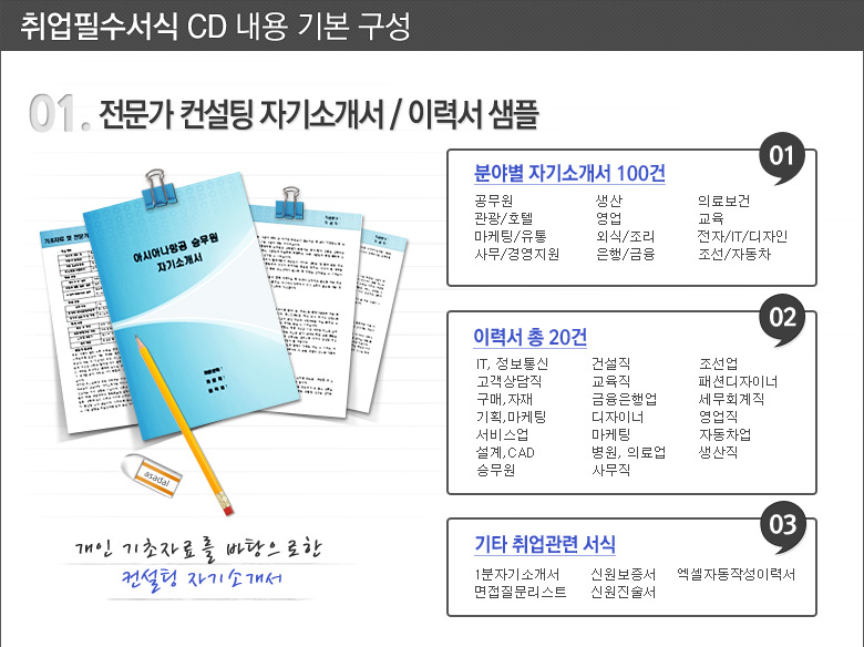 01.전문가 컨설팅 자기소개서/이력서 샘플